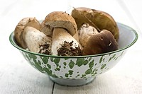 Porcini mushrooms in bowl