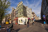 Damstraat street and Nes Street, from the Dam Square, Amsterdam, Hollad, Netherlands
