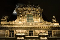 France, Paris, The Louvre, close_up of facade