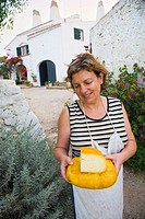 Mahon cheese. Minorca. Balearic Islands. Spain.
