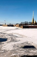 Russia, St Petersburg, Vassilievski island, the Peter and Paul fortress