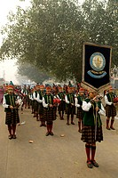India, New Delhi, parade of young indian during the anniversary of the martyr of Guru Tegh Baradur