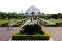 India, New Delhi, lotus temple