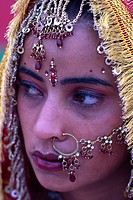 India, Punjab, Tar Taran, young sikh bride