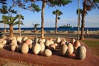 Cyprus, Limassol, art on the promenada