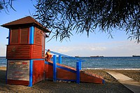 Cyprus, Limassol, cabin of the life_guards