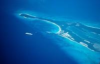 Aerial view Bahamas island, Caribbean Sea, Bahamas
