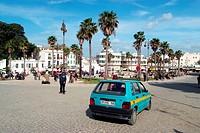 Morocco, Tangier, the grand socco, taxi