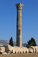 Remains of the Olympian Zeus temple, Athens, Greece