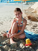 Girl on a beach (thumbnail)