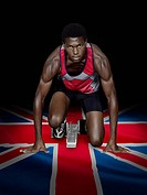 Athlete with british flag
