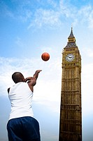 Basketball player and big ben