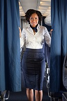 Air stewardess with curtain (thumbnail)