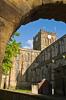 HEXHAM NORTHUMBRIA Hexham abbey cathedral church clock tower