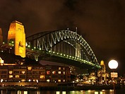 Harbour bridge at nght in Sydney