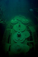 Engine and Boiler Room of Japanese Freighter Wreck Chuyo Maru, Micronesia, Pacific Ocean, Palau