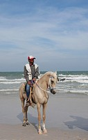 Horse with Rider on the Beach from Hua Hin
