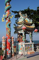 Shrine of a Chinese Temple near the Beach