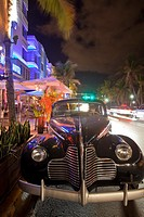 Classic American Car, South Beach, Miami, Florida, USA