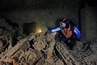 Diver finds armed munition at Wolga Don Wreck, Balaklava, Crimean Peninsula, Black Sea, Ukraine