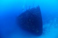 Bow of Lina Wreck, Cres Island, Mediterranean Sea, Croatia