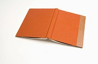 An opened Hardcover Book