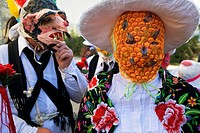 Mascarita and Botarga  Carnival, Almiruete  Tamajon, Guadalajara province, Castilla-La Mancha, Spain