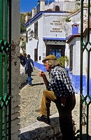 Troglodyte Houses  Cave houses at Sacromonte troglodyte quarter Gipsy quarter, Granada, Andalusia, Spain, Europe