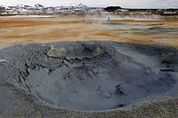 Boiling mud pot, Myvatn geothermal area, Iceland