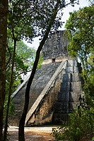 Temple V. Mayan ruins of Tikal. Peten region. Guatemala.