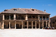 Building in Main Square, Pedraza, Segovia province, Castilla-Leon, Spain
