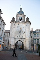 Europe, France, Poitou Charentes, Charente Maritime, La Rochelle, Clock tower