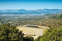 Football field. Baunei. Sardinia. Italy.