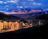 Baihaba Village in fall, Kanas Scenery Area, Altay Prefecture, Xinjiang Uyghur Autonomous Region, China