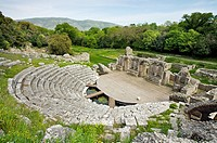 Ancient theatre. 3rd century BC. UNESCO. World Heritage Site. Butrint. Albania.