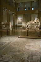 Roman sarcophagi and mosaics from the collection of the National Museum of Beirut, Lebanon