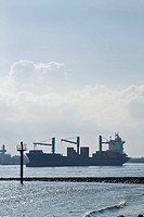 Germany, Hamburg, harbor, Elbe, ship,