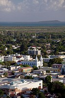 Puerto Rico, South Coast, Ponce, town view from El Vigia cross.