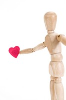 Heart shape and wooded doll (thumbnail)