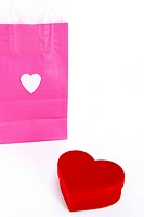 heart shape and shopping bag