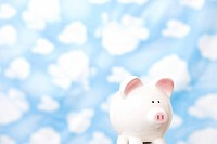 wallpaper and piggy bank