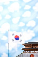 wallpaper, Namdaemoon and Korean flag, Taegeukgi