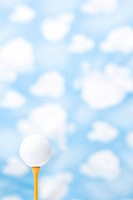 Wallpaper and golf ball (thumbnail)