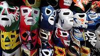 Máscaras de luchador. Ciudad de México.