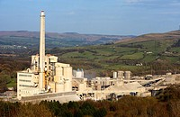 hope valley lafarge cement works in the peak district rural derbyshire england uk
