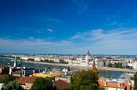 Budapest city panorama from Budim