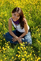 Beautiful girl on a meadow