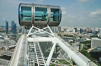 Singapore: view of the city, with the Marina Bay, from the Singapore Flyer