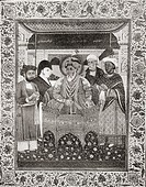 Akbar Shah II, aka Mirza Akbar 1760–1837, King of Delhi and Sir Thomas Theophilus Metcalfe, 4th Baronet, 1795 to 1853  From the book Short History of ...