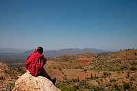 Man sitting on a rock, Ethiopia